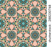 seamless pattern ethnic style.... | Shutterstock .eps vector #288230768
