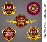 set of luxury gold badges with... | Shutterstock .eps vector #288236852
