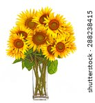 A Big Bunch Of Sunflowers In A...