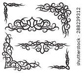 set of lines vector decorative... | Shutterstock .eps vector #288239312