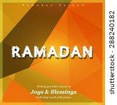 ramazan kareem  ramadan kareem  ... | Shutterstock .eps vector #288240182