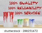 100  quality reliability and... | Shutterstock . vector #288251672