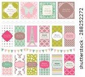 templates set. | Shutterstock .eps vector #288252272