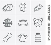 line icons style dog icons set  ... | Shutterstock .eps vector #288252338