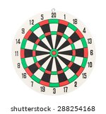 dartboard isolated on white... | Shutterstock . vector #288254168