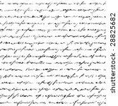 Seamless Of Handwritten Text