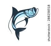 Jumping Tarpon Fish Logo...
