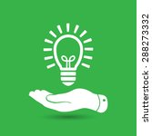 flat hand giving light lamp... | Shutterstock . vector #288273332