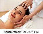 beautiful young woman getting a ... | Shutterstock . vector #288274142