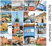 collage of photos from warsaw | Shutterstock . vector #288278156