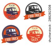 different logos of food truck ... | Shutterstock .eps vector #288282308