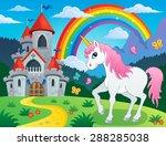 fairy tale unicorn theme image... | Shutterstock .eps vector #288285038