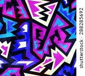 purple color retro seamless... | Shutterstock .eps vector #288285692