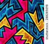vintage geometric seamless... | Shutterstock .eps vector #288285698
