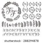 vector illustration of vintage... | Shutterstock .eps vector #288294878