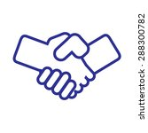 handshake icon vector. logo... | Shutterstock .eps vector #288300782