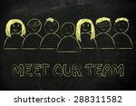 group of people expressing... | Shutterstock . vector #288311582