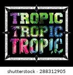 summer fashion trend. tropic... | Shutterstock .eps vector #288312905