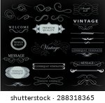 set of calligraphic elements... | Shutterstock .eps vector #288318365