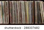 stack of old vinyl records.... | Shutterstock . vector #288337682