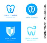 dental logos templates....   Shutterstock .eps vector #288338036
