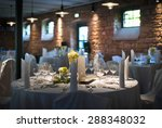 beautiful decorated wedding... | Shutterstock . vector #288348032