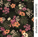 seamless flower pattern in... | Shutterstock .eps vector #288350732