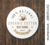 organic cotton round label with ... | Shutterstock .eps vector #288351152