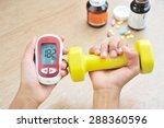 self care of diabetic patients.   Shutterstock . vector #288360596
