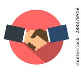 shake hand flat icon. shaking... | Shutterstock .eps vector #288378926