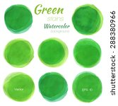 light green watercolor painted... | Shutterstock .eps vector #288380966