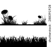 grass silhouettes isolated on... | Shutterstock . vector #288391928