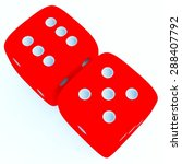 red dice with number 11 on... | Shutterstock . vector #288407792
