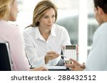 couple dealing with a financial ... | Shutterstock . vector #288432512