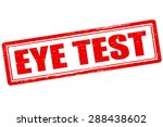 rubber stamp with text eye test ...