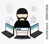 security system design over... | Shutterstock .eps vector #288441806