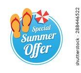 special summer offer label   Shutterstock .eps vector #288446522