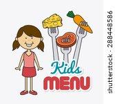kids food design over white... | Shutterstock .eps vector #288448586