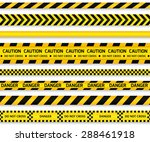 yellow with black police line... | Shutterstock . vector #288461918
