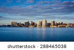 View of downtown Halifax from Dartmouth with the waterfront and the Purdy