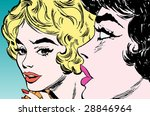 portrait of a two young woman | Shutterstock . vector #28846964
