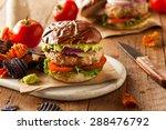 homemade healthy turkey burgers ... | Shutterstock . vector #288476792