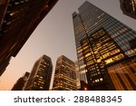 tokyo business district of... | Shutterstock . vector #288488345