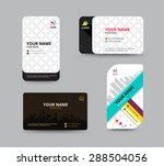 business card template. name... | Shutterstock .eps vector #288504056