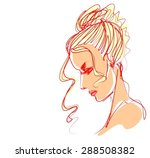 background with a portrait of ... | Shutterstock .eps vector #288508382