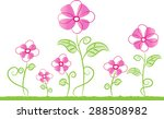 vector flower | Shutterstock .eps vector #288508982