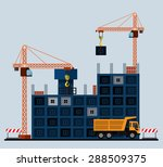 construction site  building a... | Shutterstock .eps vector #288509375