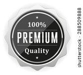 black premium quality badge... | Shutterstock .eps vector #288509888