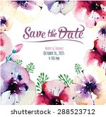 vector  invitation card with... | Shutterstock .eps vector #288523712