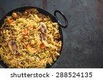 indian rice dish vegetarian...   Shutterstock . vector #288524135